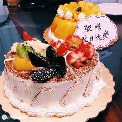 Chestnut cake + Mango cake